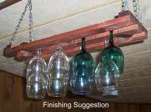 2 Row 24 Inch Hanging Wine Glass Rack
