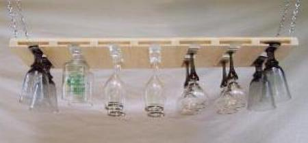 Front Load Hanging Wine Glass Rack 36