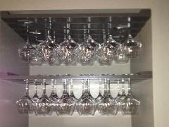 5 Row 24 Inch Direct Mount Wine Glass Rack