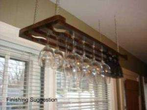 hanging wine glass rack design