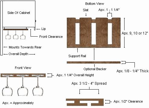 Wine Glass Rack Diagram