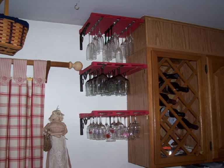 Custom Made Wooden Stemware Racks For Your Home Bar